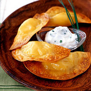 Potato-Cheese Dumplings with Sour Cream-Chive Dip.