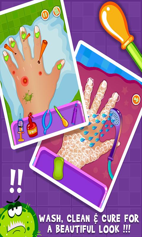 Baby nail doctor kids games screenshot