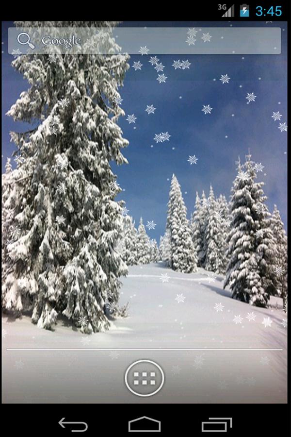 Χιόνι πτωση Ζωντανή Ταπετσαρία - στιγμιότυπο οθόνης