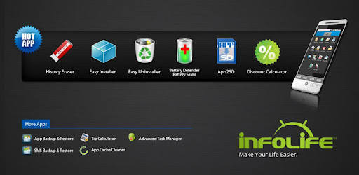 Manage apps for android devices.