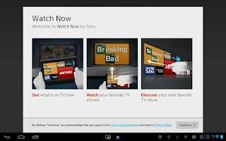 Screenshot of Watch Now
