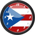 Puerto Rico Flag Clock Widget icon