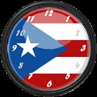Puerto Rico Flag Clock Widget icon