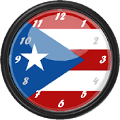 PR Flag Clock Widget 3