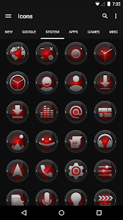 Black and Red - Icon Pack - screenshot thumbnail