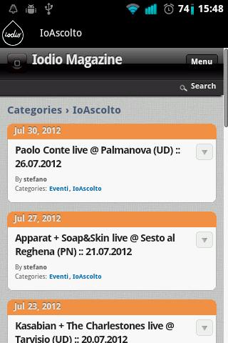 Iodio Magazine - screenshot