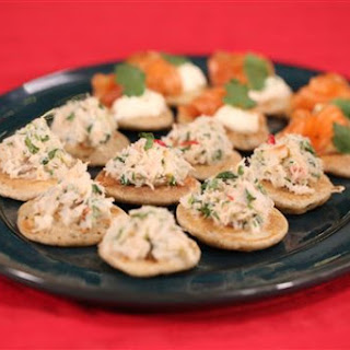 Spiced Blinis With Smoked Salmon And Tom Yum Coke