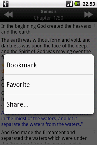 Holy Bible (RSV) - screenshot