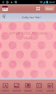 Pink Theme TextCutie - screenshot thumbnail