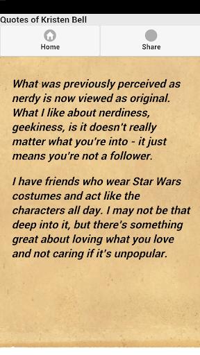 【免費娛樂App】Quotes of Kristen Bell-APP點子