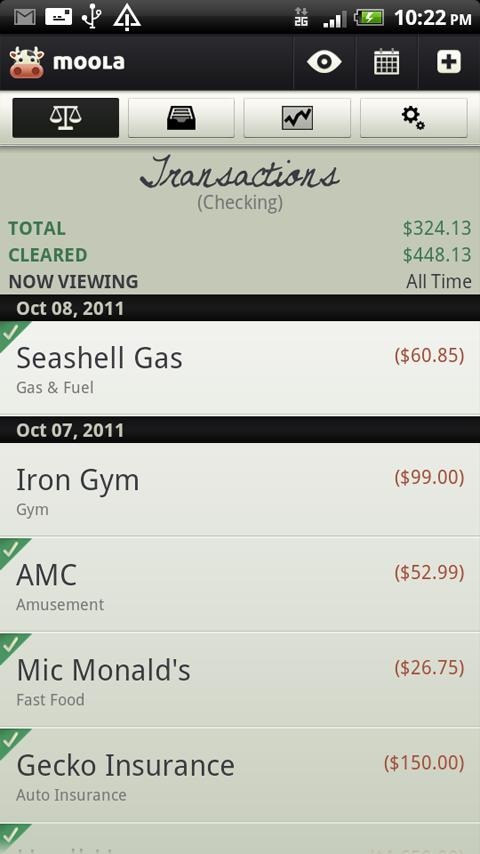 mooLa! (Checkbook) FREE - screenshot