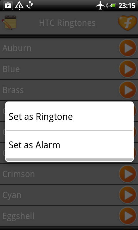 HTC One Ringtones - screenshot