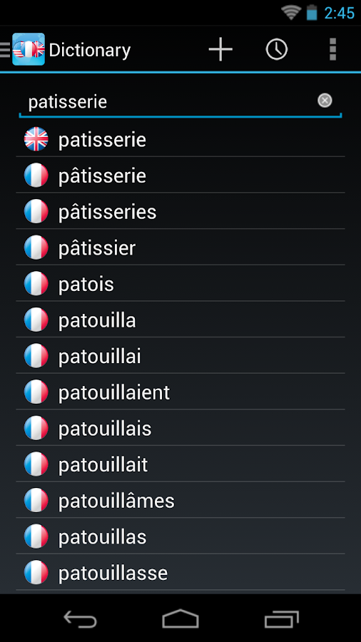 French English Dictionary - screenshot