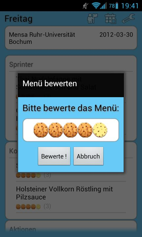 Mensa Bochum- screenshot
