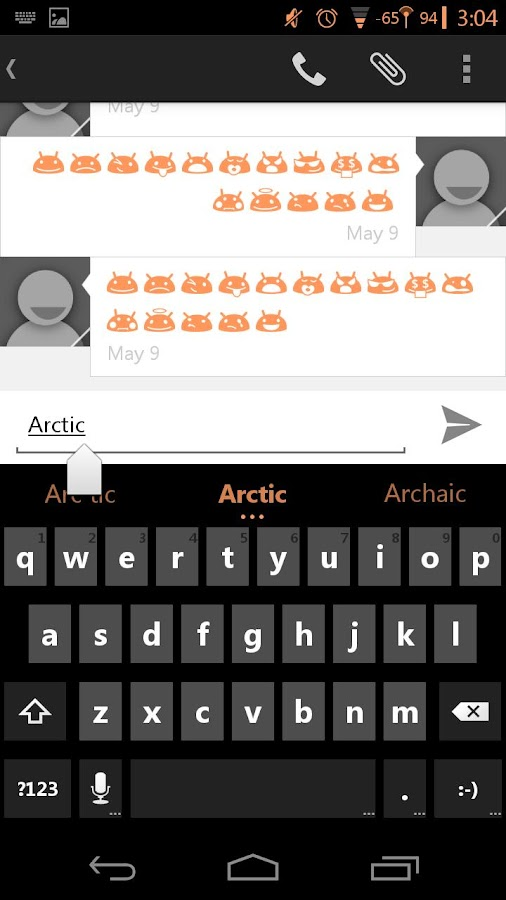 Arctic Orange CM11 AOKP Theme - screenshot