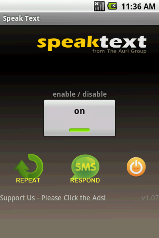 Speak Text - Safe Driving App - screenshot