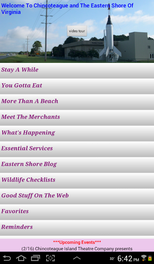 Chincoteague/ES Visitor Guide- screenshot