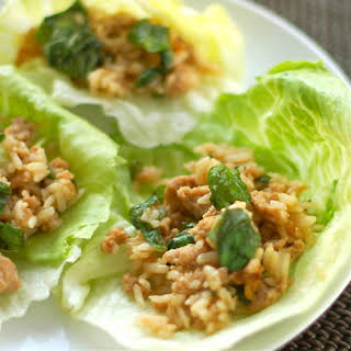 Basil Chicken Lettuce Wraps.