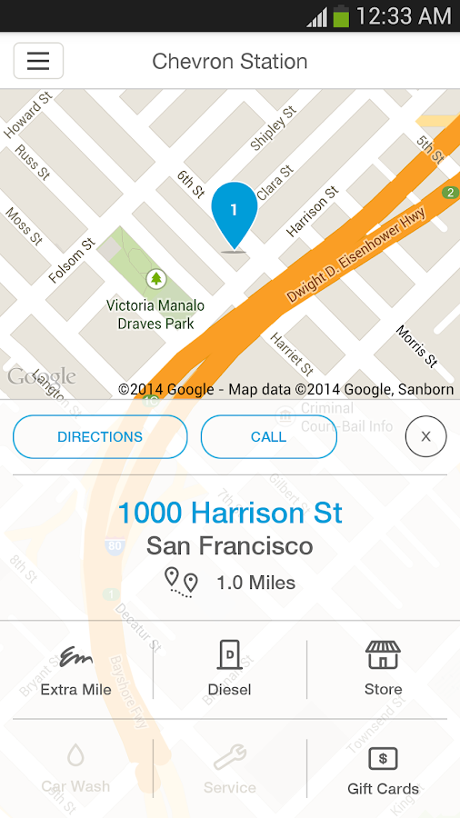 Chevron Station Finder- screenshot