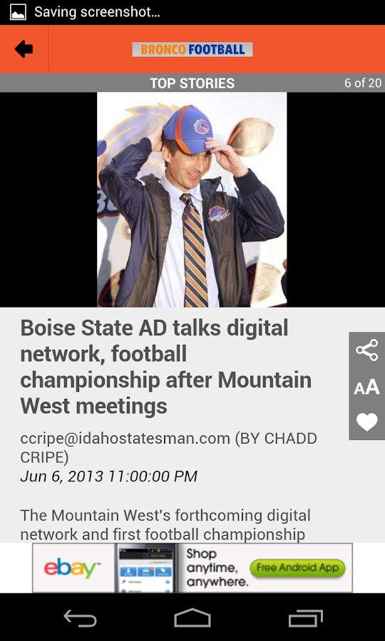 BSU Football - Idaho Statesman - screenshot