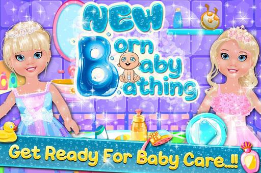New Born Baby Bathing