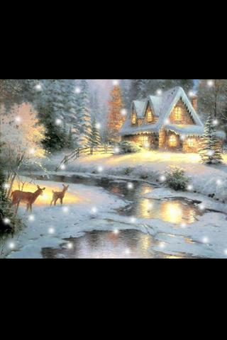 Thomas Kinkade Snow globe - screenshot