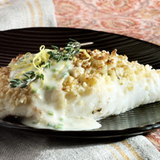 Almond Crusted Halibut Crystal Symphony