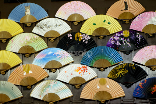 Fan Display Other Objects Artistic Objects Pixoto New Japanese Fan Display Stand