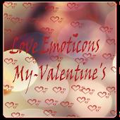 My Valentine Love Emoticons