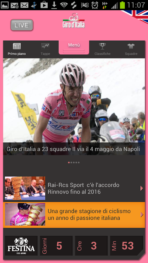 Giro d'Italia - screenshot