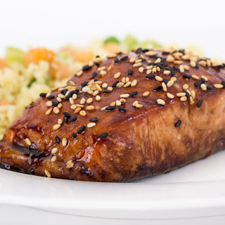 Balsamic-Glazed Salmon.