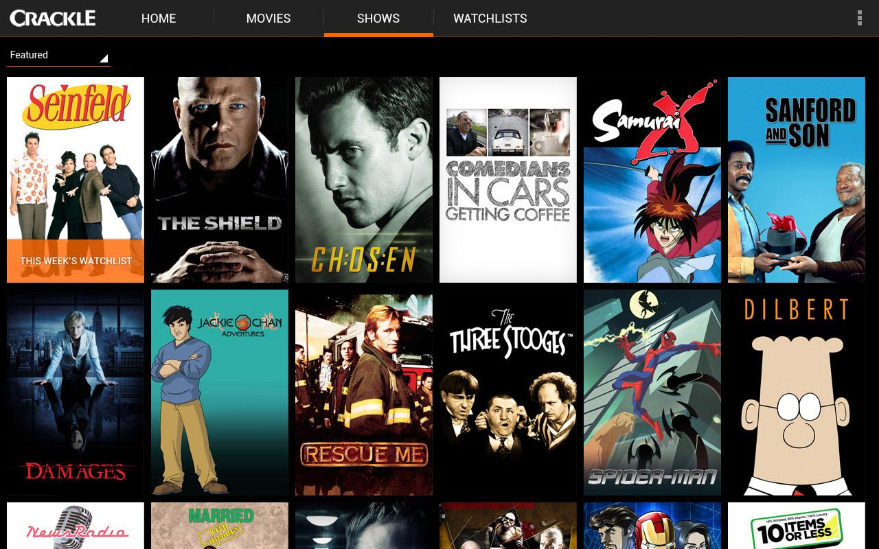 Crackle - Movies & TV- screenshot