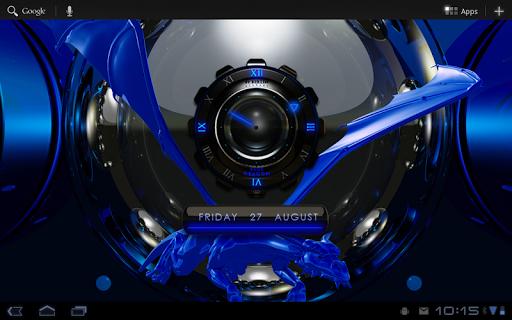 【免費娛樂App】Blue Dragon Clock Widget-APP點子