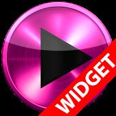 Poweramp skin widget PINK META