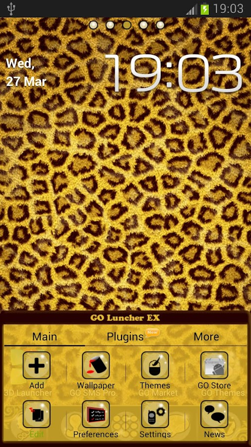 Theme Leopard for GO Launcher- screenshot