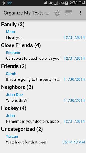 Organize My Texts - Free