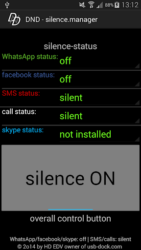 DND 1click silence manager