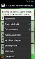 Screenshot of Němčina - Gramatika