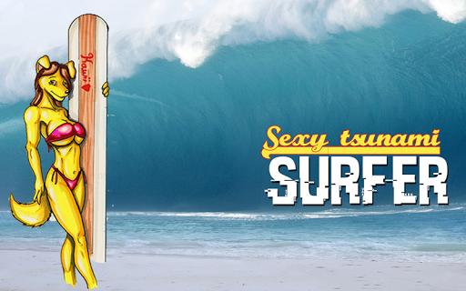 Sexy Tsunami Surfer