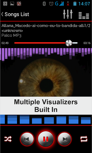 音樂播放器,均衡器和可視化工具