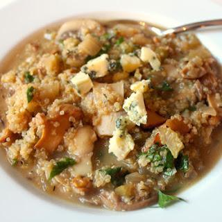 Mushroom and Stilton Quinoa Risotto