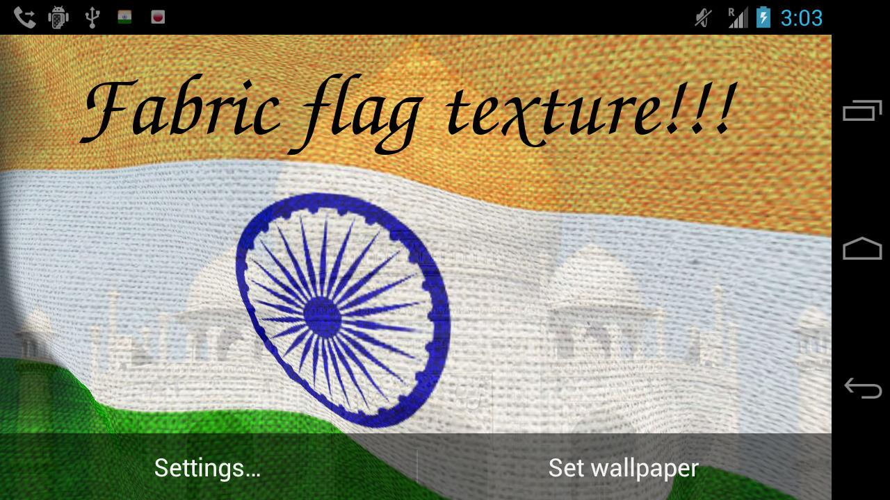 3D India Flag- screenshot