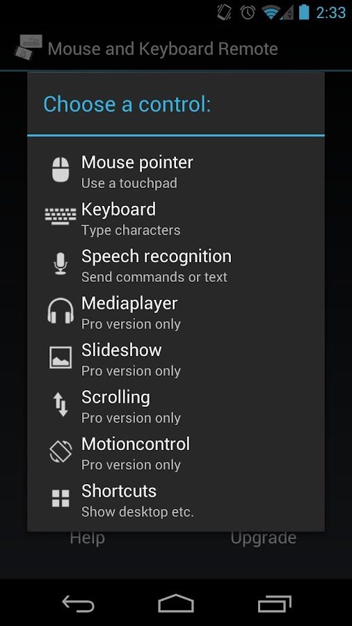 Mouse & Keyboard Remote - screenshot