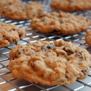Oatmeal Brown Sugar Cookies with Raisins & Pecans.