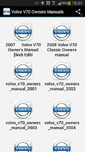 Volvo V70 Owners Manuals