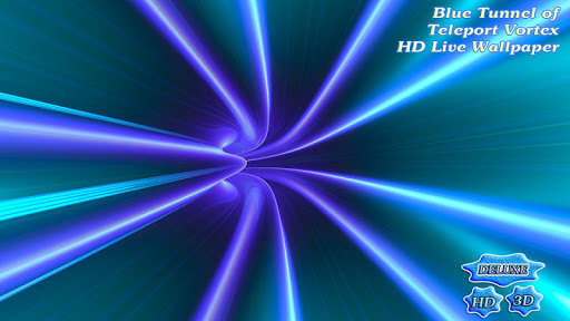 Blue Tunnel of Teleport Vortex app (apk) free download for Android/PC/Windows screenshot