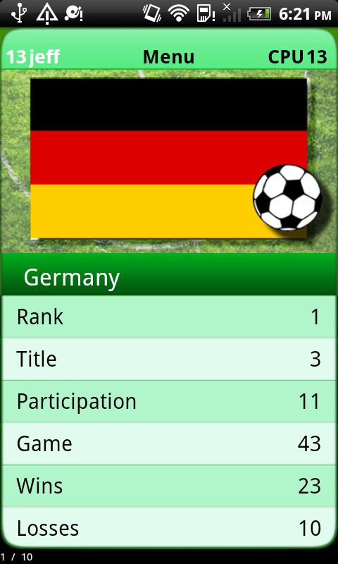 Football Game - Euro 2012- screenshot