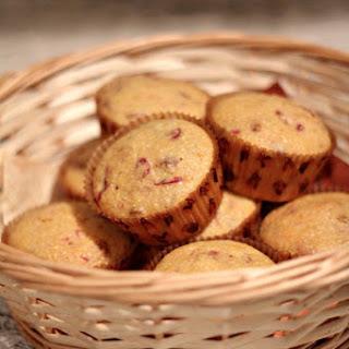 Cranberry Sauce'd Cornbread Muffins
