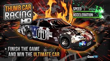 Screenshot of Thumb Car Racing