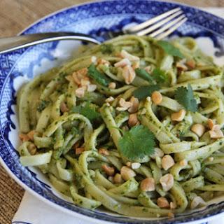 Pasta with Cilantro-Peanut Pesto.